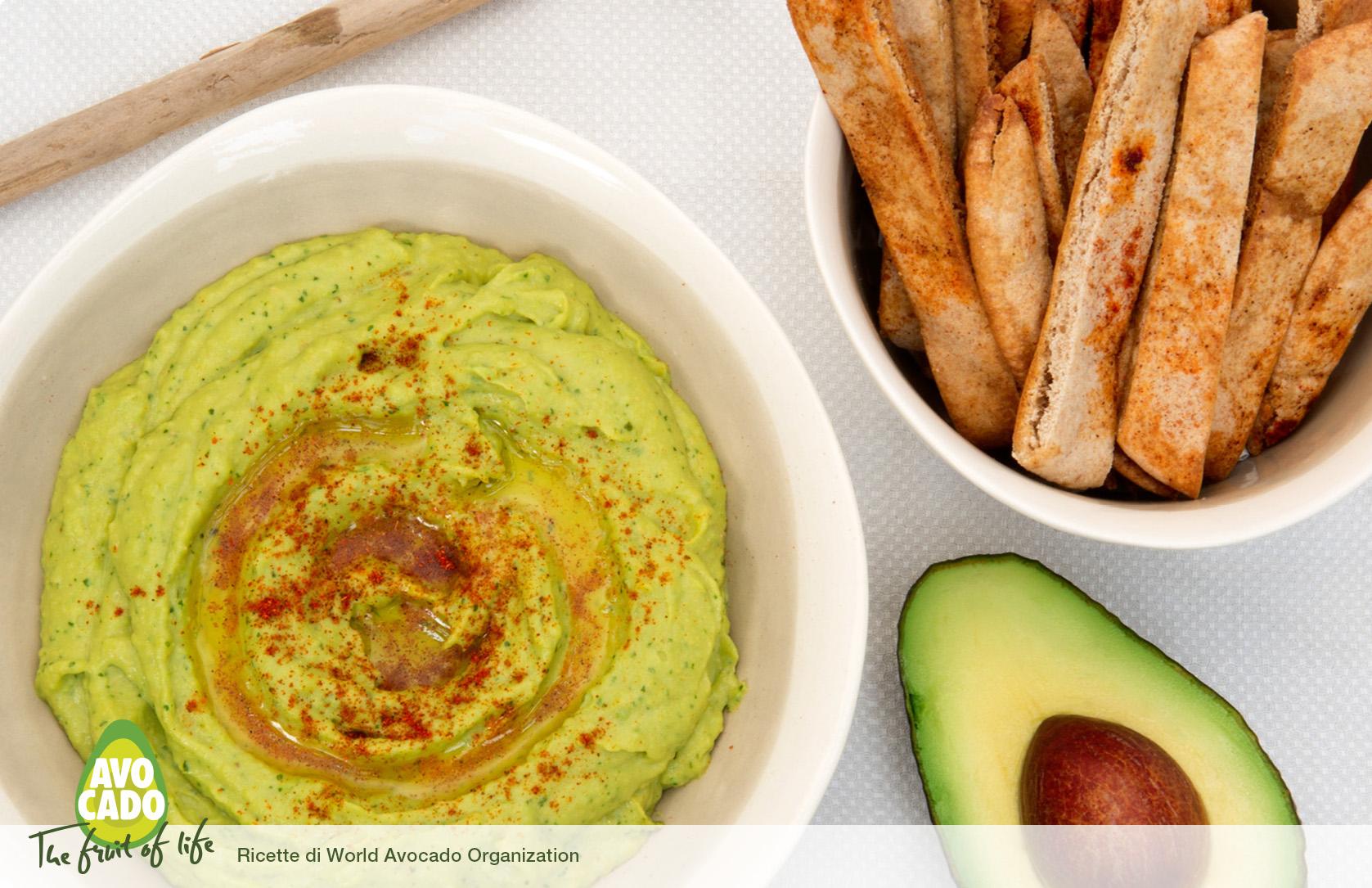 Hummus di Avocado mediterraneo