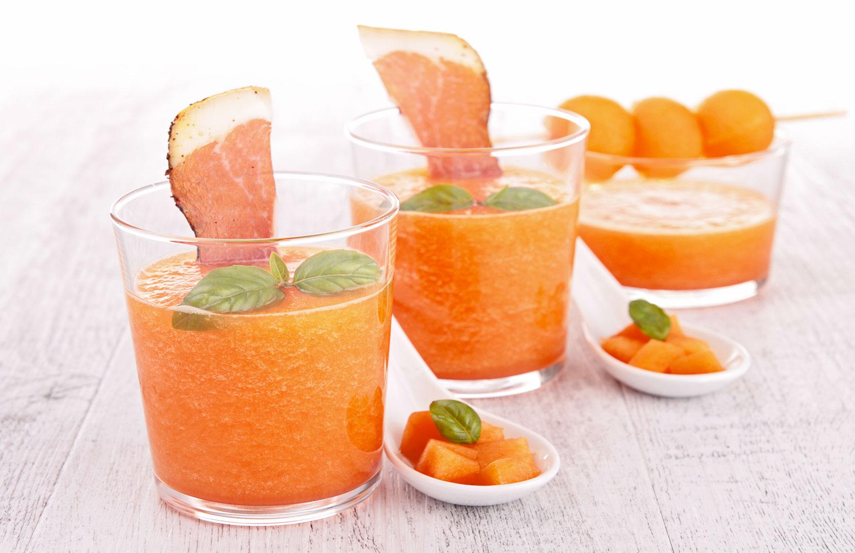 Gazpacho di Melone Rosso e prosciutto