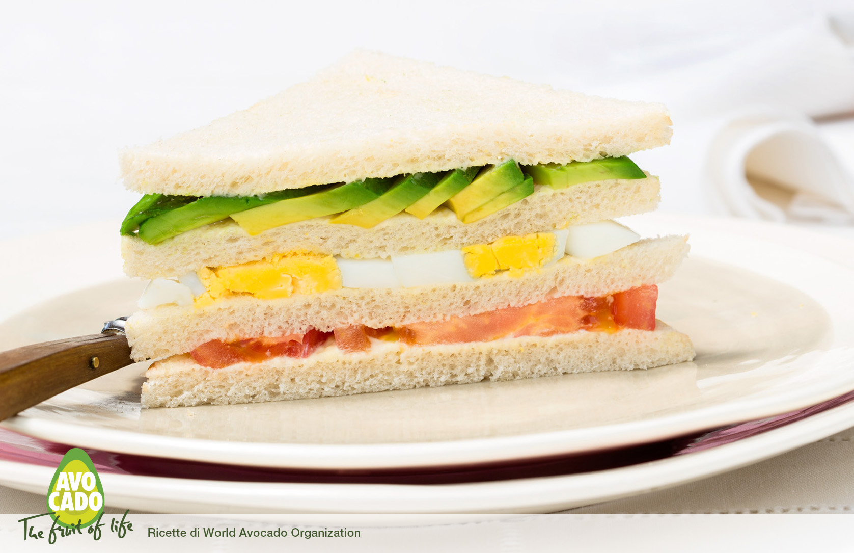 Sandwich con avocado