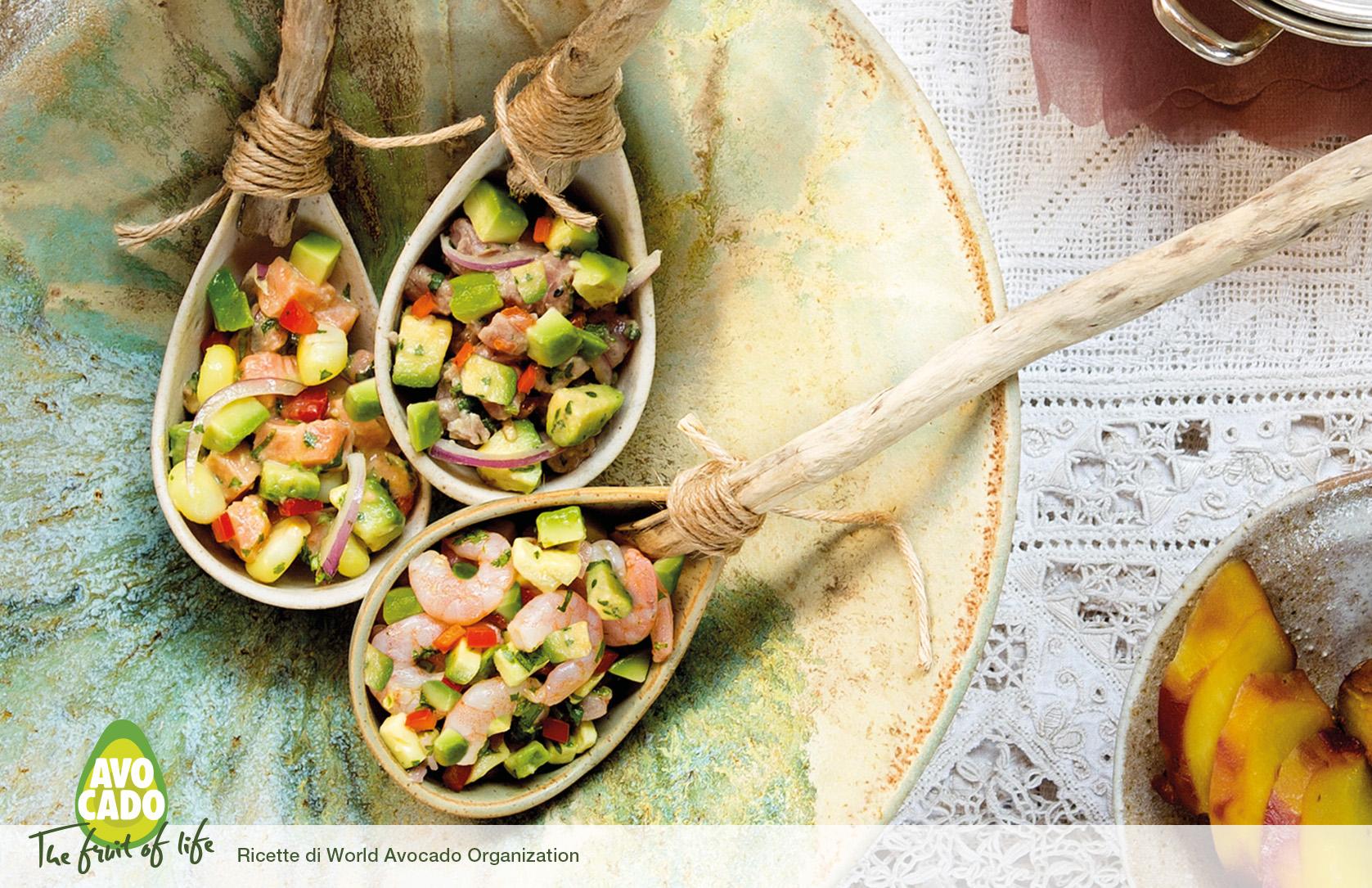 Ceviche all'avocado
