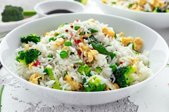 riso thai con verdure